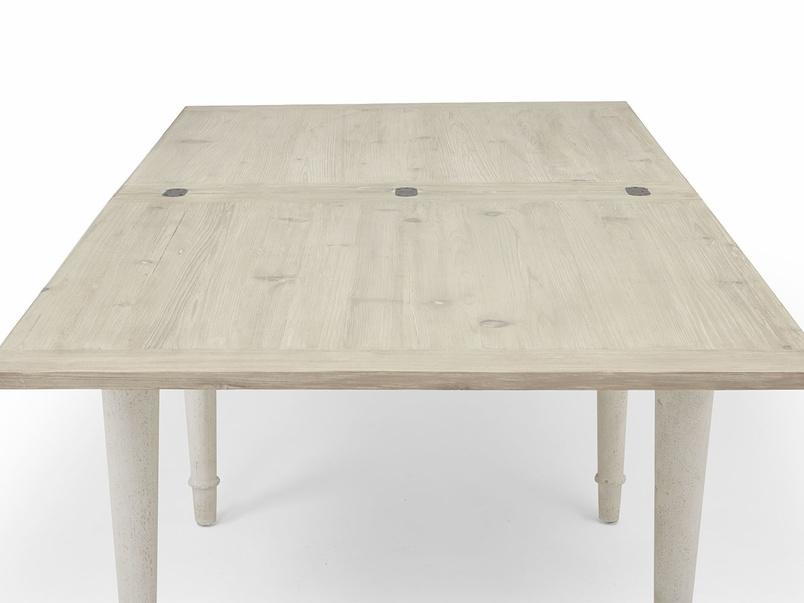 Toaster flip top kitchen table in Vintage White wood
