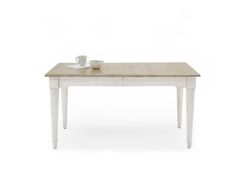 Toaster kitchen table in Vintage White extending