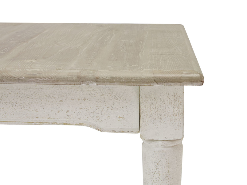 Toaster extendable dining table in vintage white