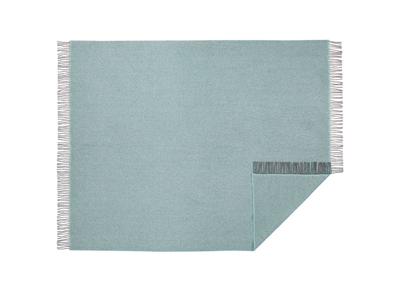 Sea Belle herringbone duck egg throw