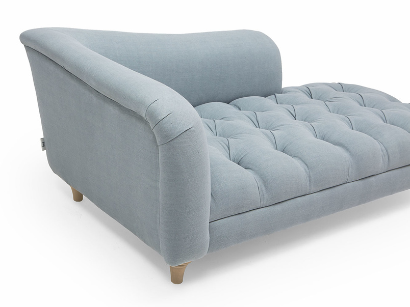 Slumber Jack upholstered button base chaise longue