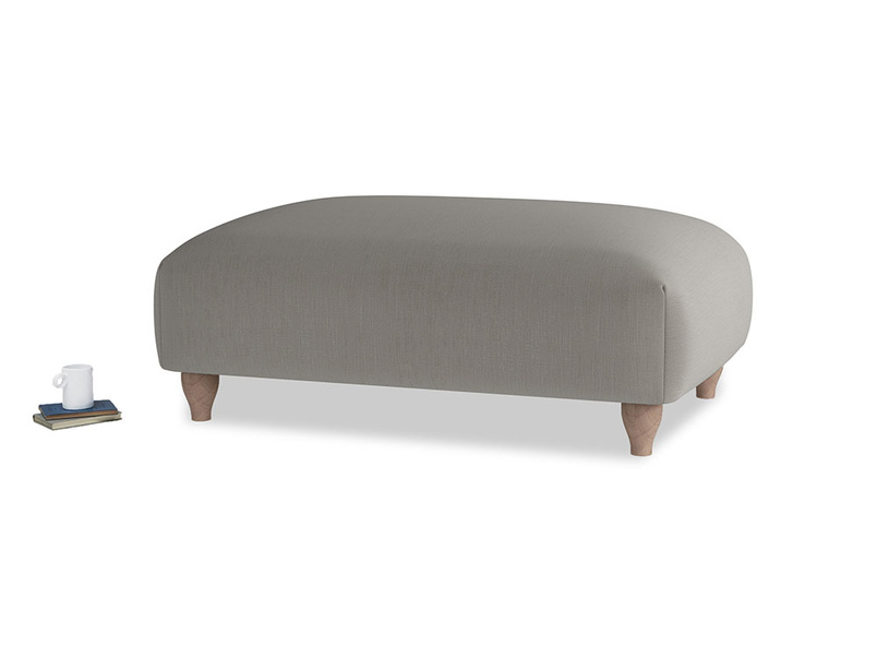 Soufflé Footstool in Monsoon grey clever cotton