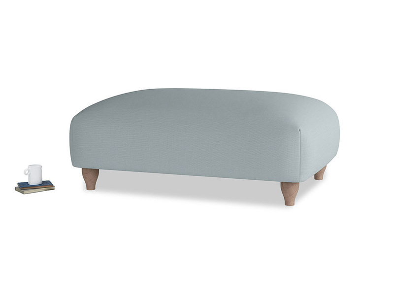 Soufflé Footstool in Quail's egg clever linen