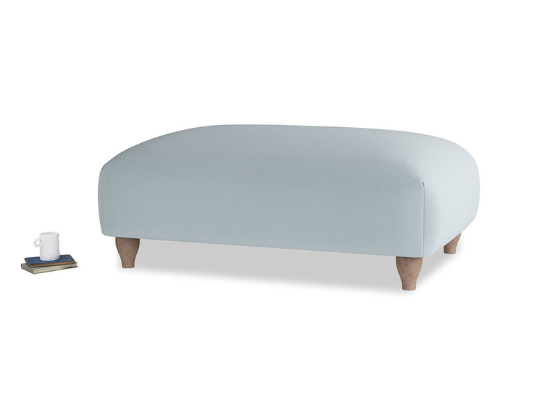 Soufflé Footstool in Scandi blue clever cotton