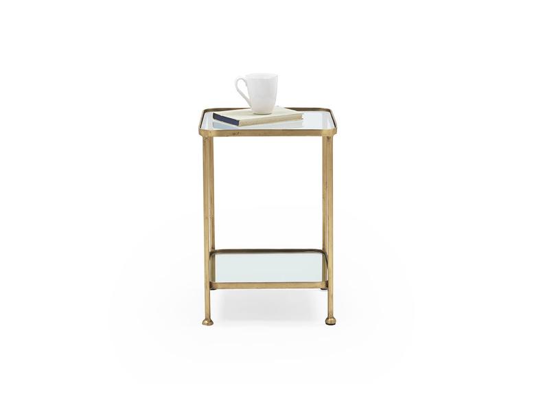 Wonder-Brass glass mirror side table