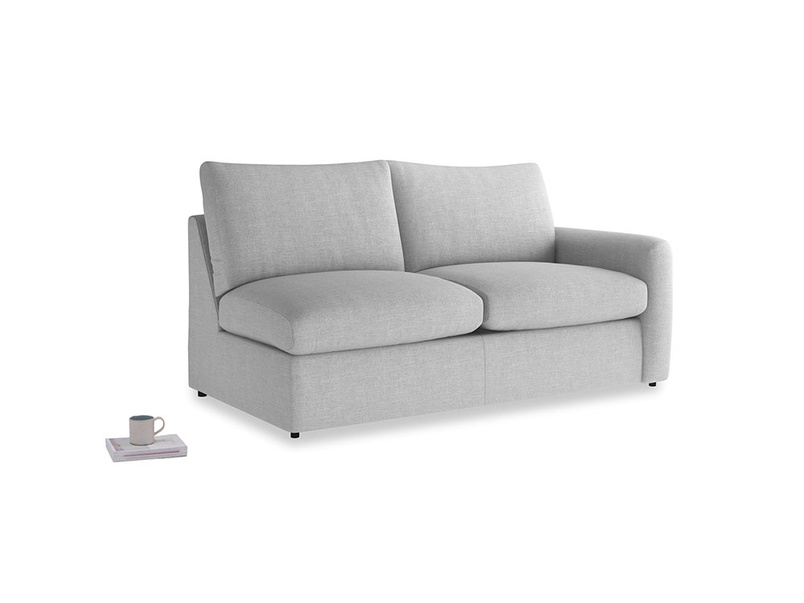 Chatnap Sofa Bed in Cobble house fabric with a right arm