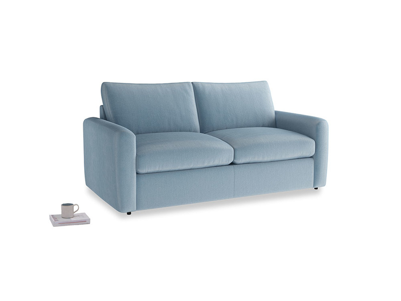 Chatnap Storage Sofa in Chalky blue vintage velvet with both arms