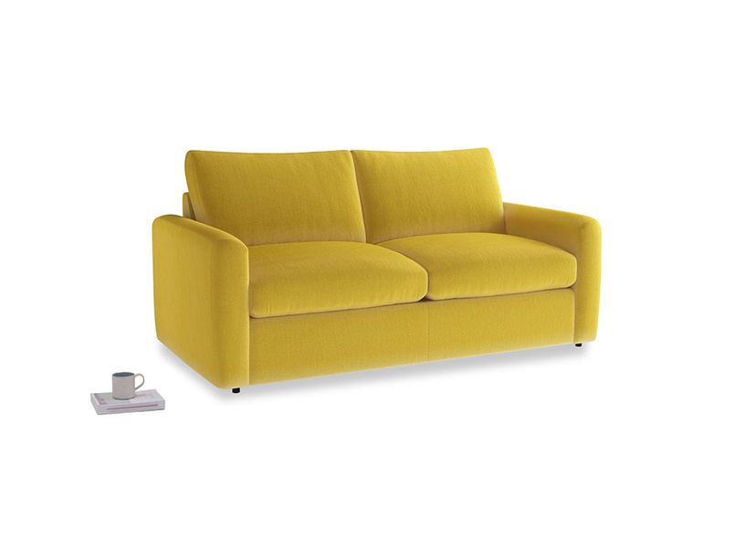 Chatnap Storage Sofa in Bumblebee clever velvet with both arms