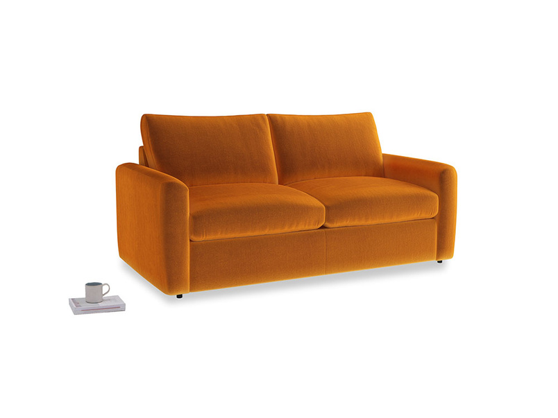 Chatnap Storage Sofa in Spiced Orange clever velvet with both arms