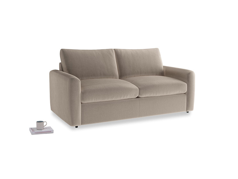 Chatnap Storage Sofa in Fawn clever velvet with both arms