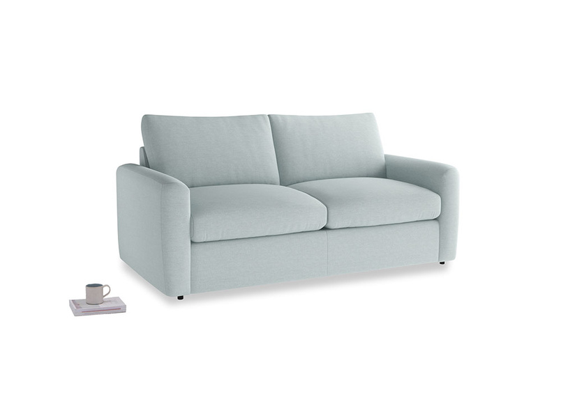 Chatnap Storage Sofa in Duck Egg vintage linen with both arms