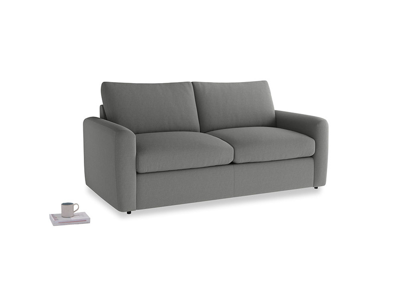 Chatnap Storage Sofa in French Grey brushed cotton with both arms