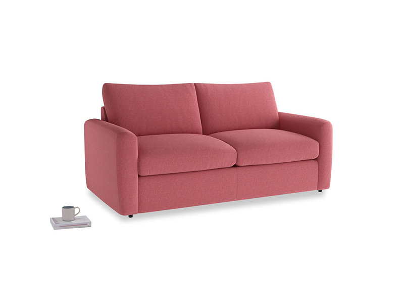 Chatnap Storage Sofa in Raspberry brushed cotton with both arms