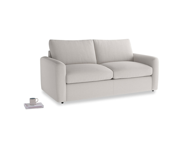 Chatnap Storage Sofa in Lunar Grey washed cotton linen with both arms