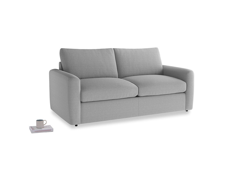 Chatnap Storage Sofa in Magnesium washed cotton linen with both arms