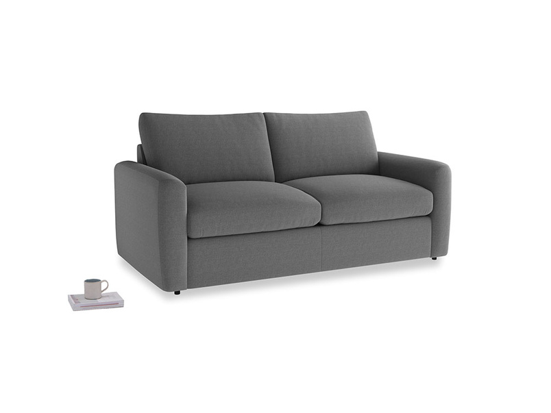 Chatnap Storage Sofa in Ash washed cotton linen with both arms