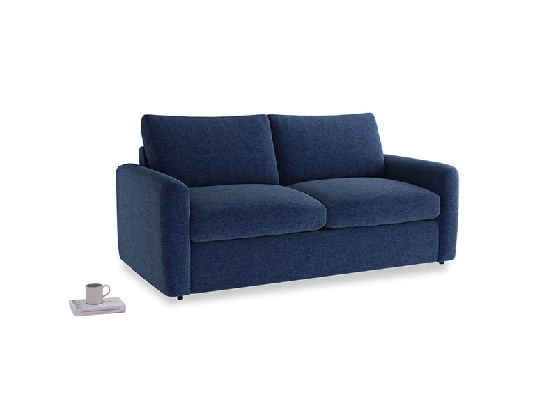 Chatnap Storage Sofa in Ink Blue wool with both arms