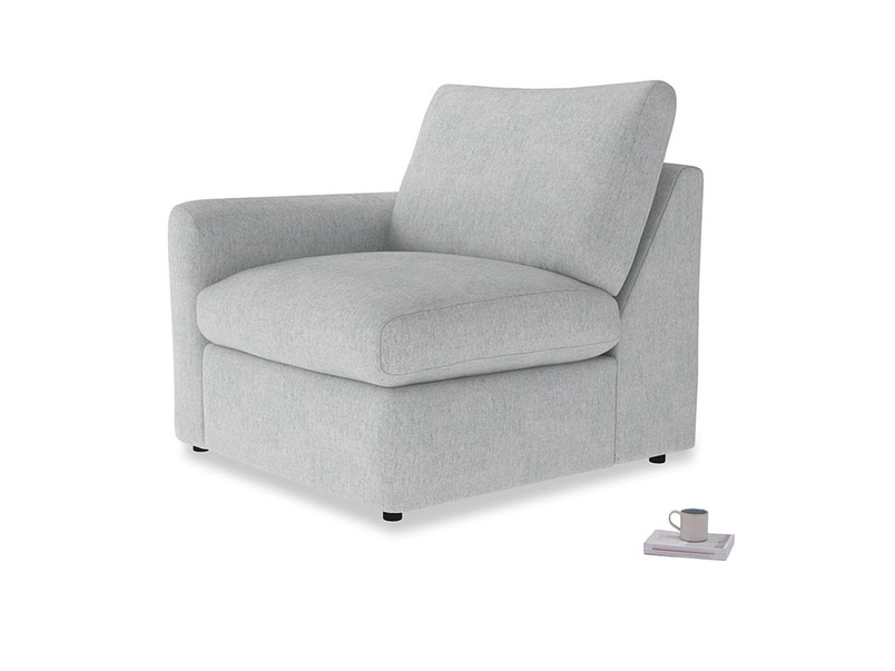 Chatnap Storage Single Seat in Pebble vintage linen with a left arm