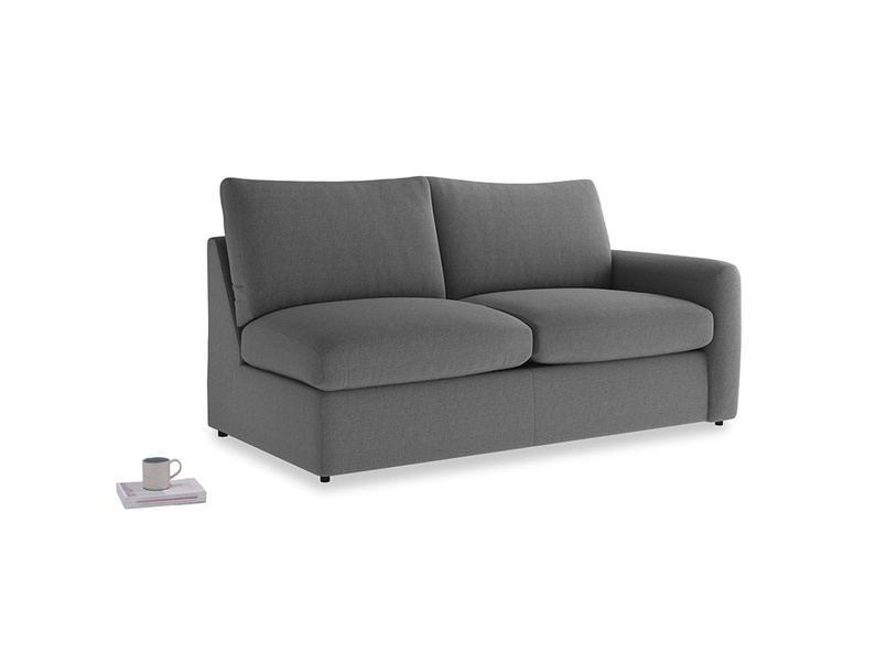 Chatnap Storage Sofa in Ash washed cotton linen with a right arm