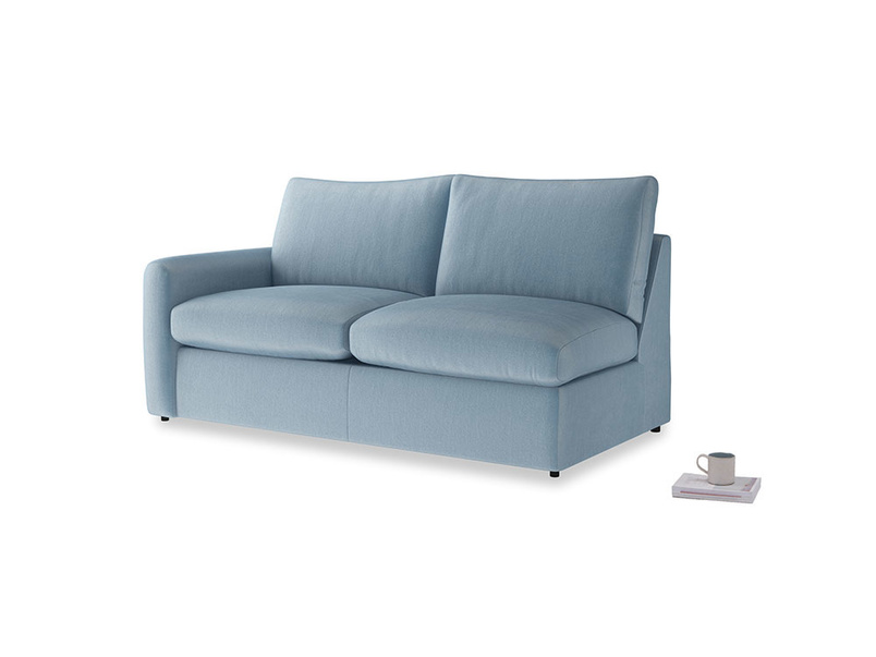 Chatnap Storage Sofa in Chalky blue vintage velvet with a left arm
