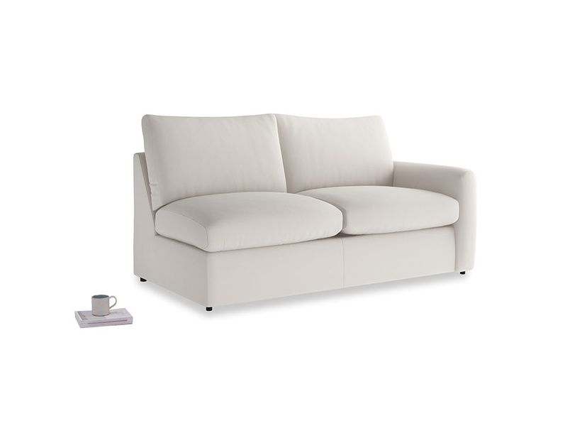 Chatnap Storage Sofa in Chalk clever cotton with a right arm