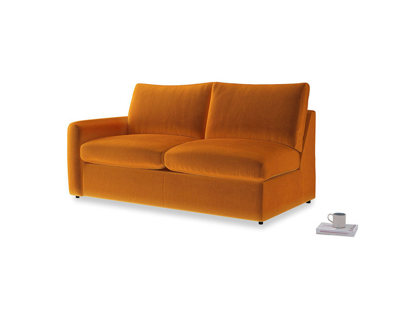 Chatnap Storage Sofa in Spiced Orange clever velvet with a left arm