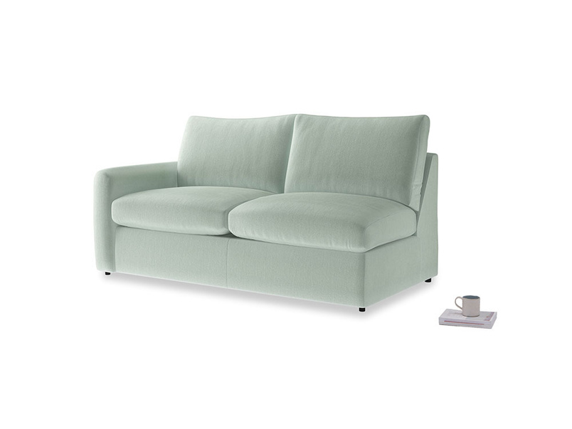 Chatnap Storage Sofa in Mint clever velvet with a left arm