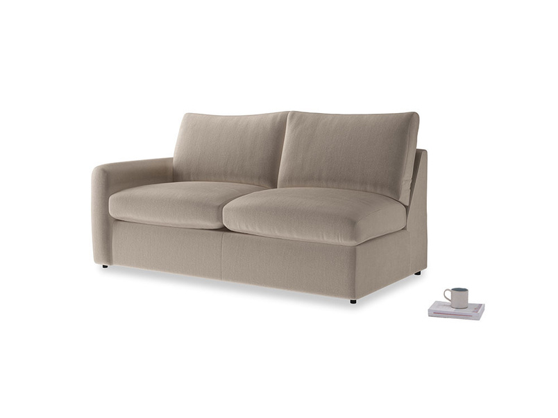 Chatnap Storage Sofa in Fawn clever velvet with a left arm
