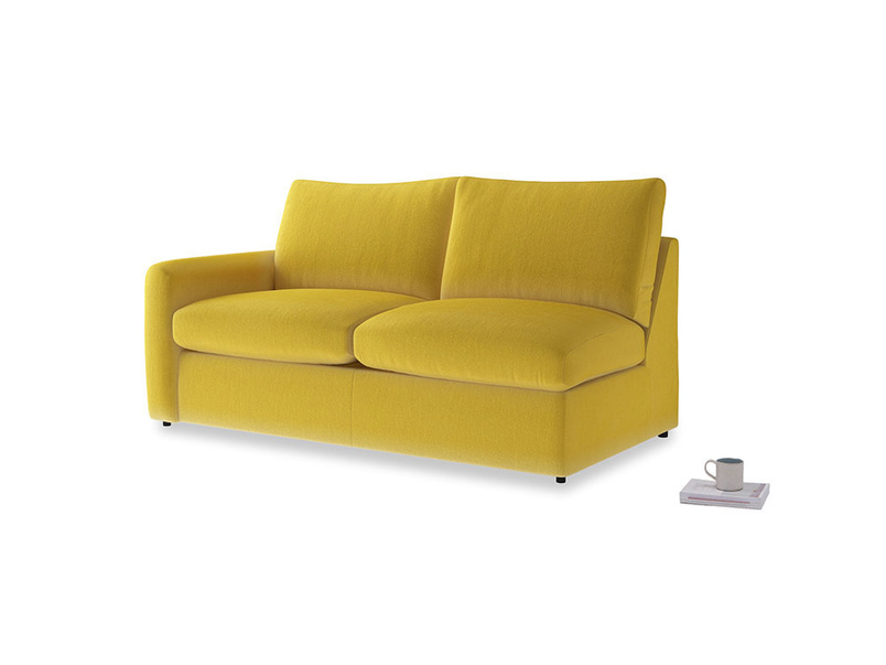 Chatnap Storage Sofa in Bumblebee clever velvet with a left arm