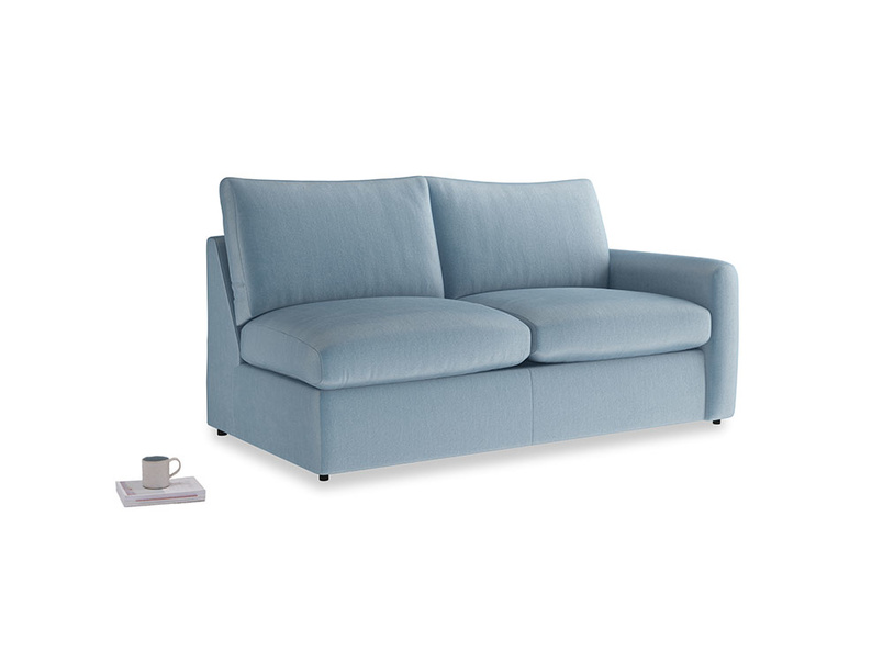 Chatnap Storage Sofa in Chalky blue vintage velvet with a right arm