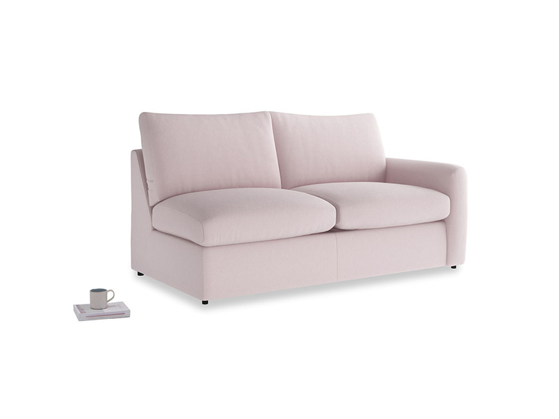 Chatnap Storage Sofa in Dusky blossom washed cotton linen with a right arm