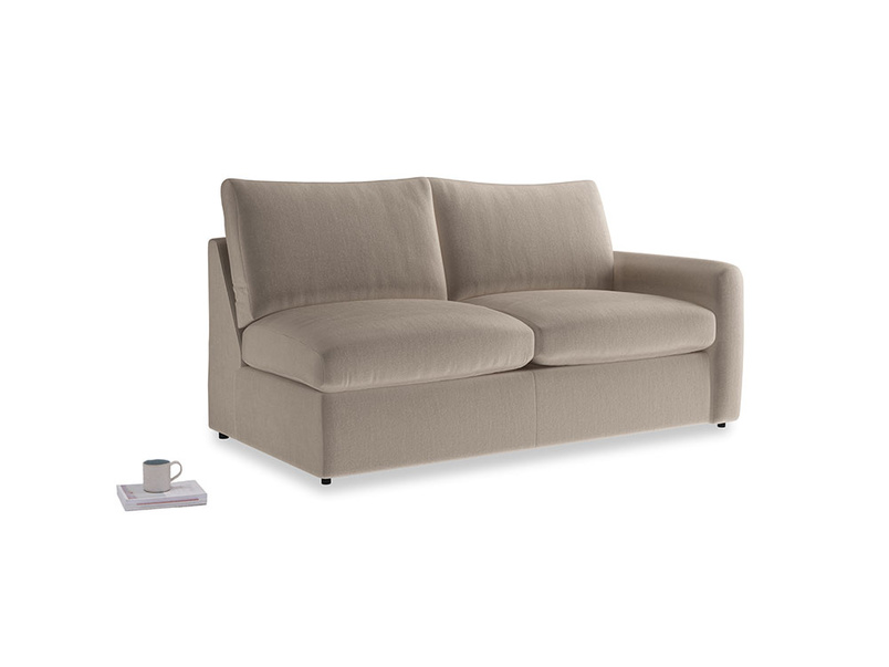 Chatnap Storage Sofa in Fawn clever velvet with a right arm