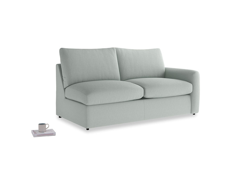 Chatnap Storage Sofa in French blue brushed cotton with a right arm