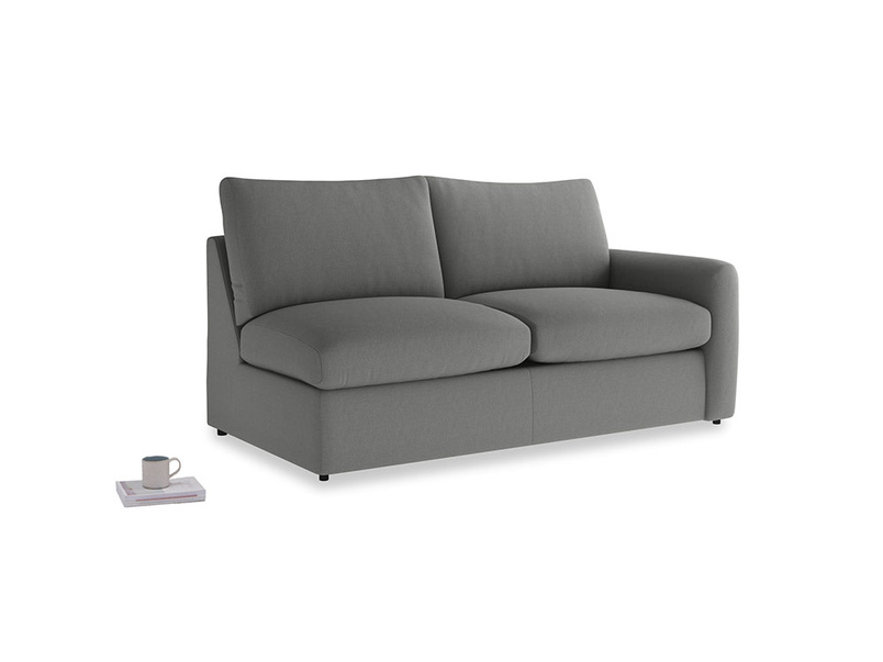 Chatnap Storage Sofa in French Grey brushed cotton with a right arm