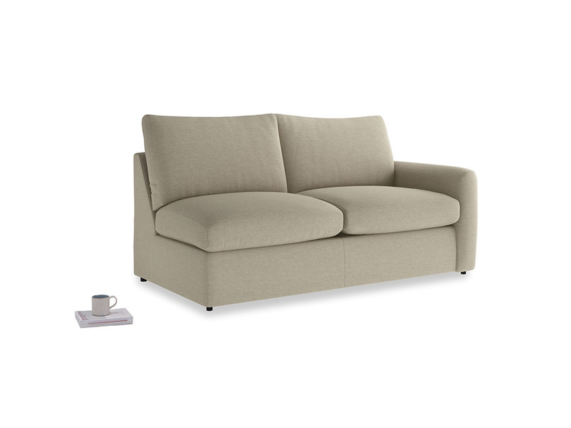 Chatnap Storage Sofa in Jute vintage linen with a right arm