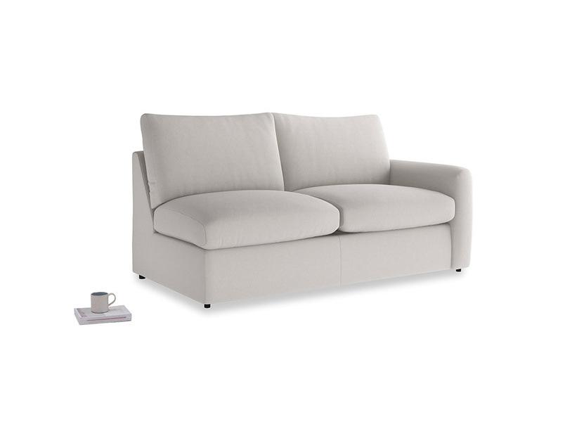 Chatnap Storage Sofa in Lunar Grey washed cotton linen with a right arm