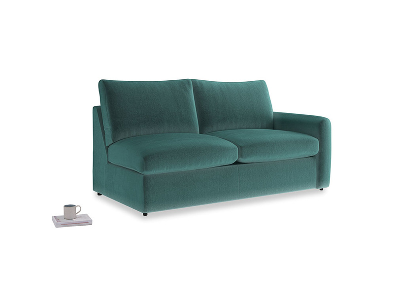 Chatnap Storage Sofa in Real Teal clever velvet with a right arm