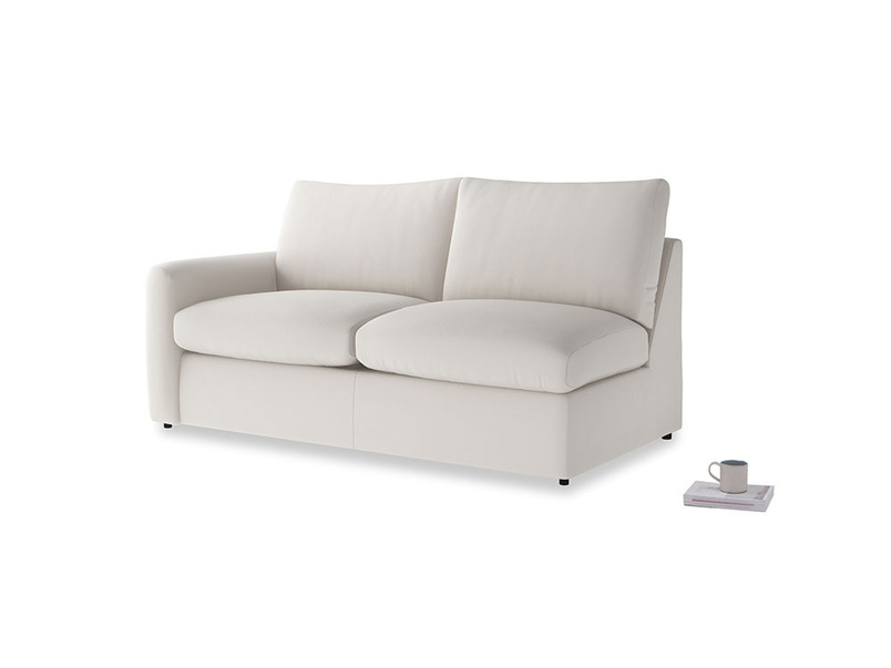 Chatnap Storage Sofa in Chalk clever cotton with a left arm