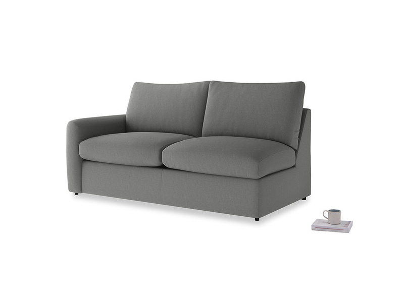 Chatnap Storage Sofa in French Grey brushed cotton with a left arm