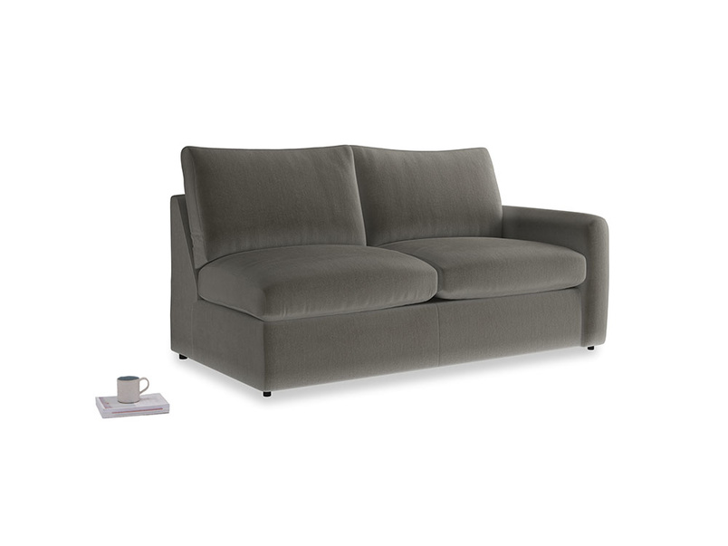 Chatnap Storage Sofa in Slate clever velvet with a right arm
