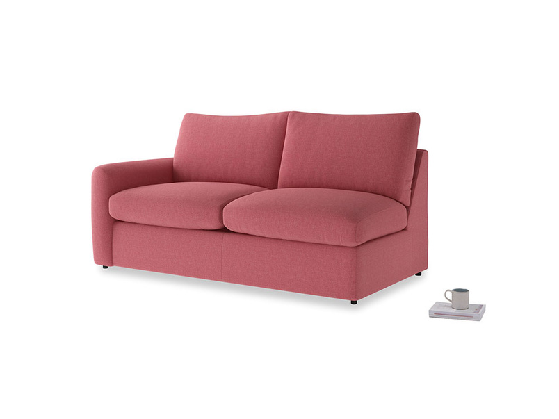 Chatnap Storage Sofa in Raspberry brushed cotton with a left arm