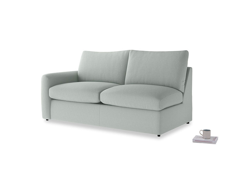 Chatnap Storage Sofa in French blue brushed cotton with a left arm