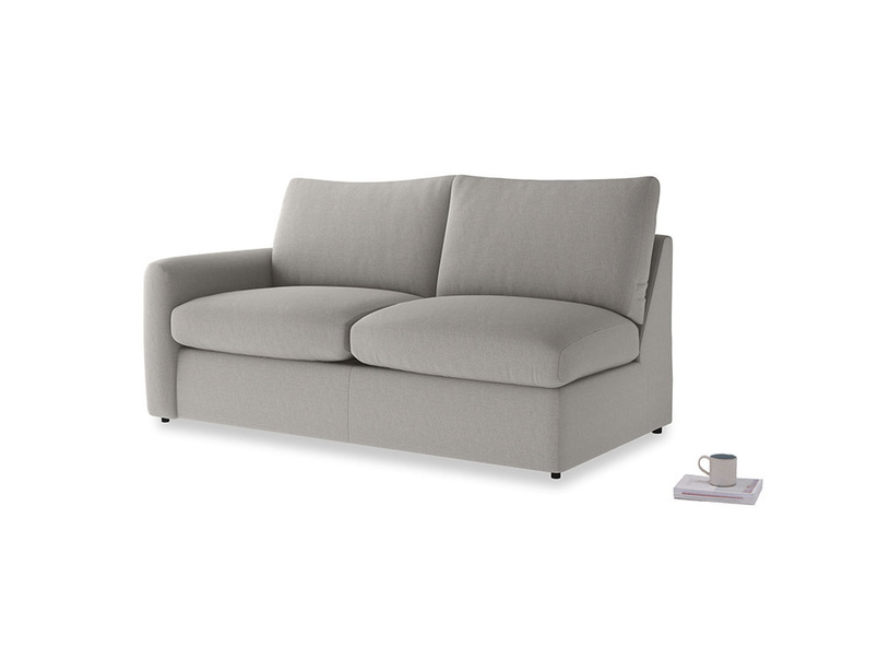 Chatnap Storage Sofa in Wolf brushed cotton with a left arm