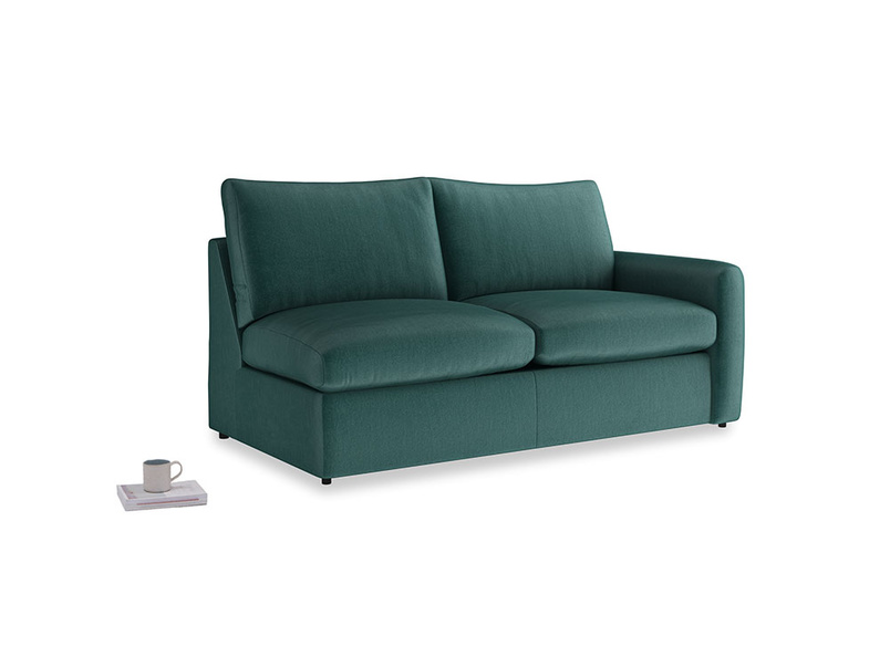 Chatnap Storage Sofa in Timeless teal vintage velvet with a right arm