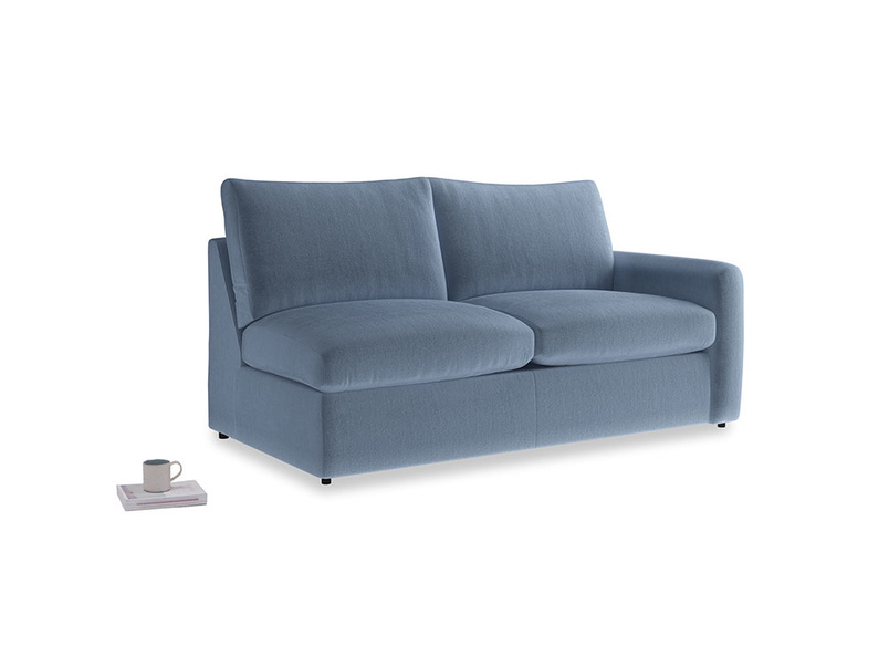 Chatnap Storage Sofa in Winter Sky clever velvet with a right arm