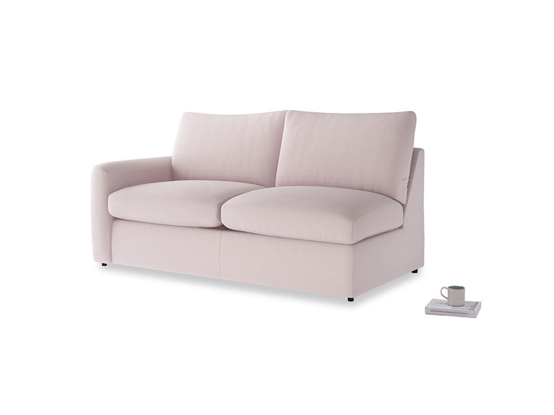 Chatnap Storage Sofa in Dusky blossom washed cotton linen with a left arm