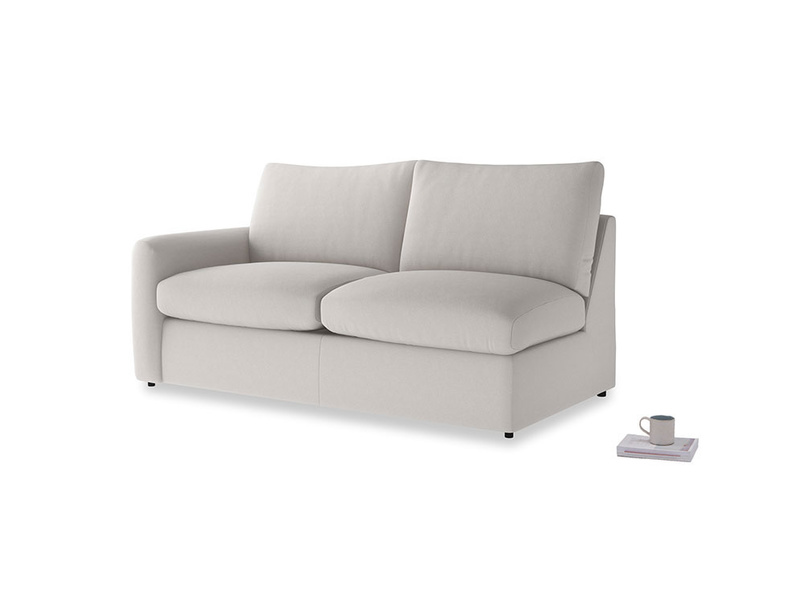 Chatnap Storage Sofa in Lunar Grey washed cotton linen with a left arm