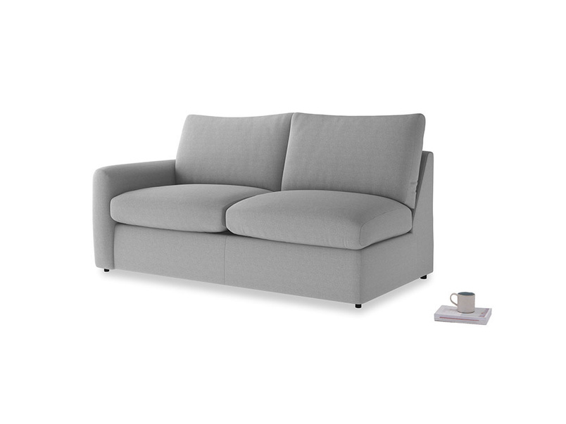 Chatnap Storage Sofa in Magnesium washed cotton linen with a left arm