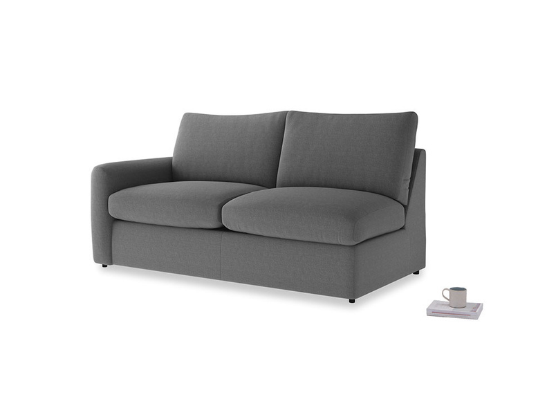 Chatnap Storage Sofa in Ash washed cotton linen with a left arm