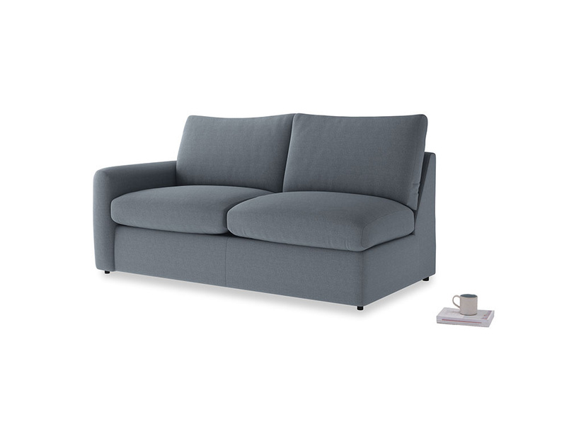 Chatnap Storage Sofa in Blue Storm washed cotton linen with a left arm